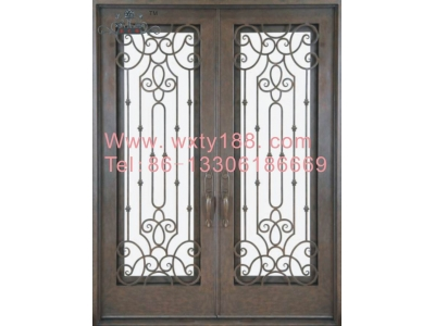 Wrought iron entry door