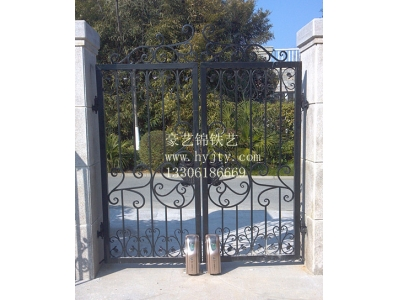 Wrought iron electric small double open the door